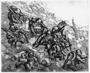 otto dix l'avanzata dei mitraglieri